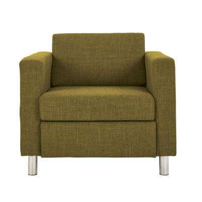 Pacific Green Fabric Arm Chair