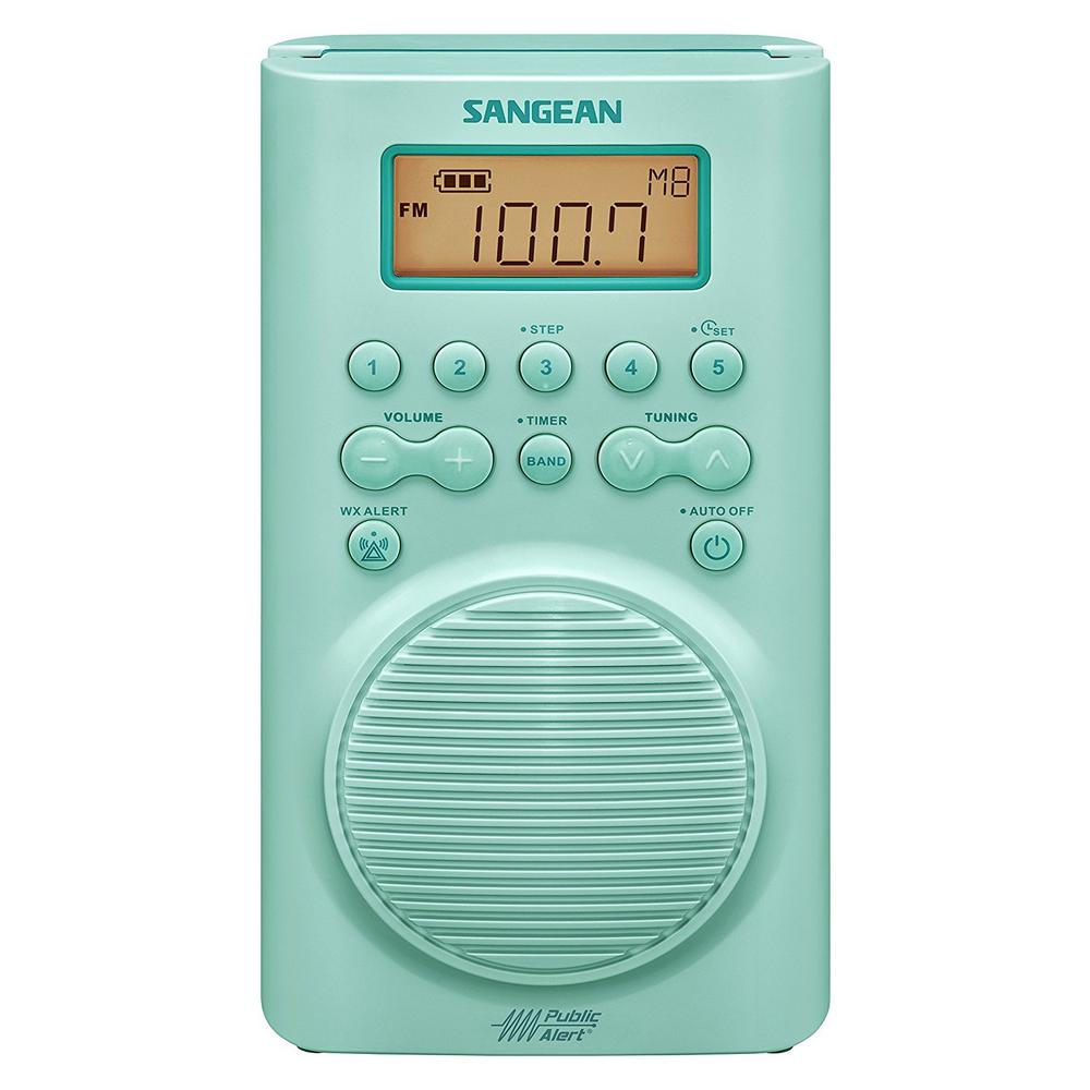 Sangean AM/FM Weather Alert Waterproof Shower Radio-H205TQ - The ...