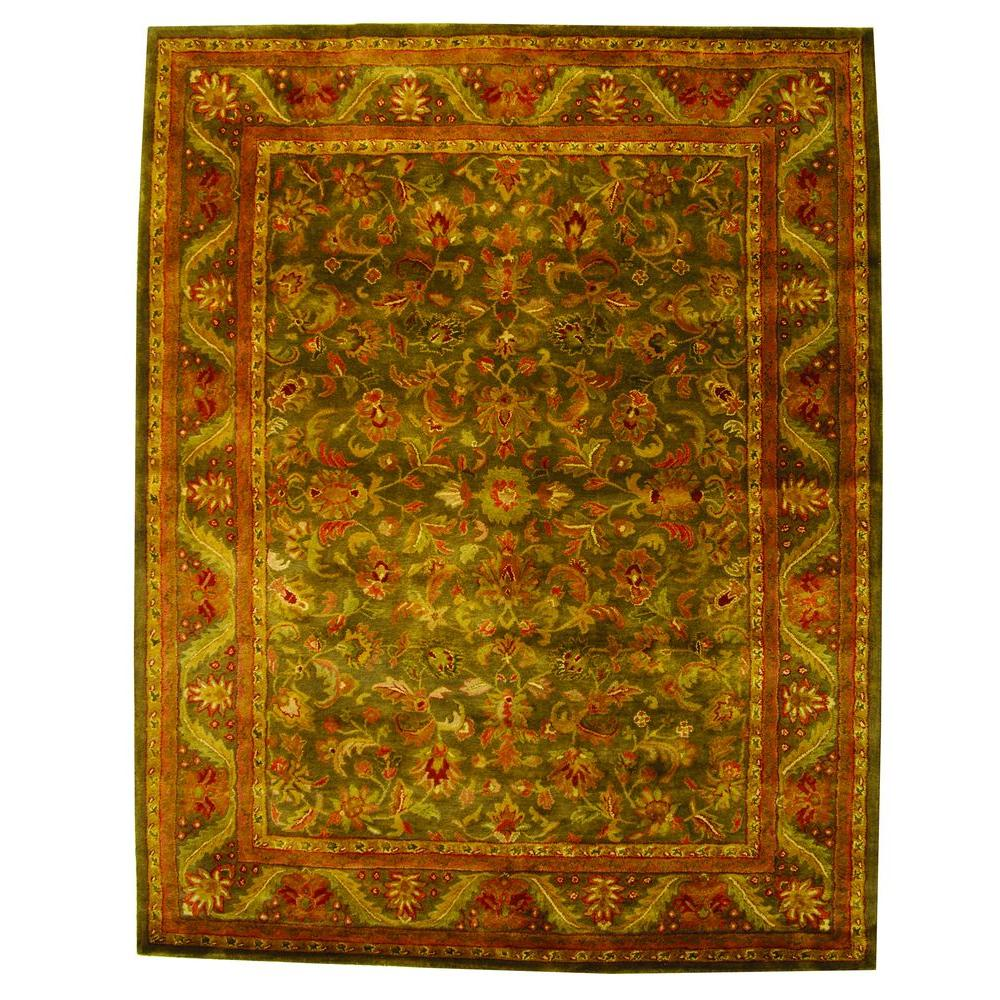 Antiquity Green/Gold 6 ft. x 9 ft. Area Rug