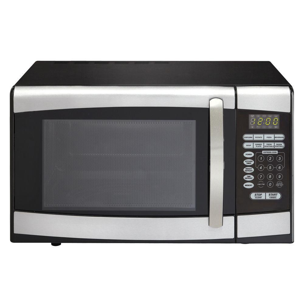 Danby 0.9 cu. ft. Countertop Microwave in Stainless Steel