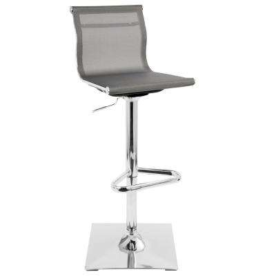 Mirage Silver Adjustable Height Bar Stool