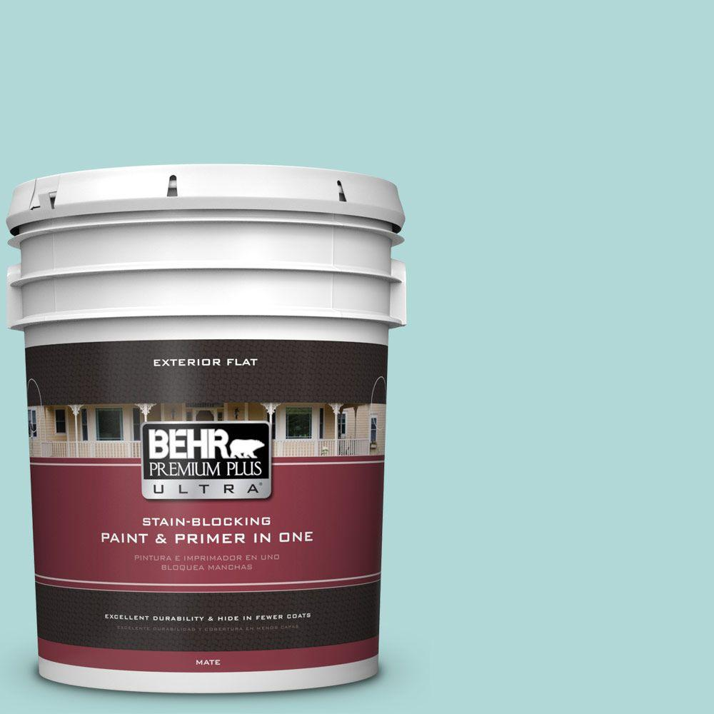 BEHR Premium Plus Ultra 5-gal. #T12-19 Sugar Pool Flat Exterior Paint
