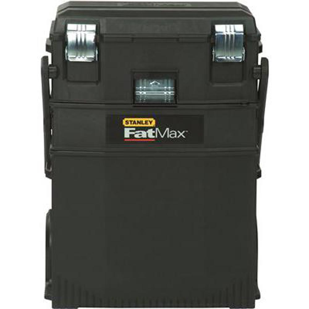 Klein Tools 48 In Steel Tool Job Site Box 54605 The Home Depot 99 Electronic Toolbox 10 Combines 4 1 Cantilever Mobile Work Center