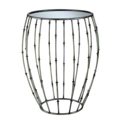 Gold Coast Antique Pewter Accent Table