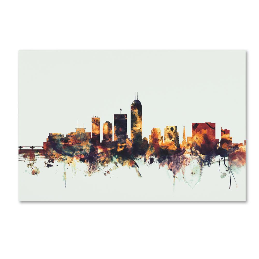 Trademark Fine Art 16 in. x 24 in. Memphis TN Skyline ...