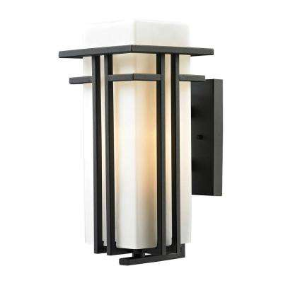 Kelmscott Collection 1-Light Textured Matte Black Outdoor Sconce
