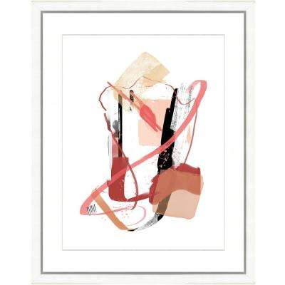 "22 in. x 28 in. ""Modern Pink I"" Framed Archival Paper Wall Art"