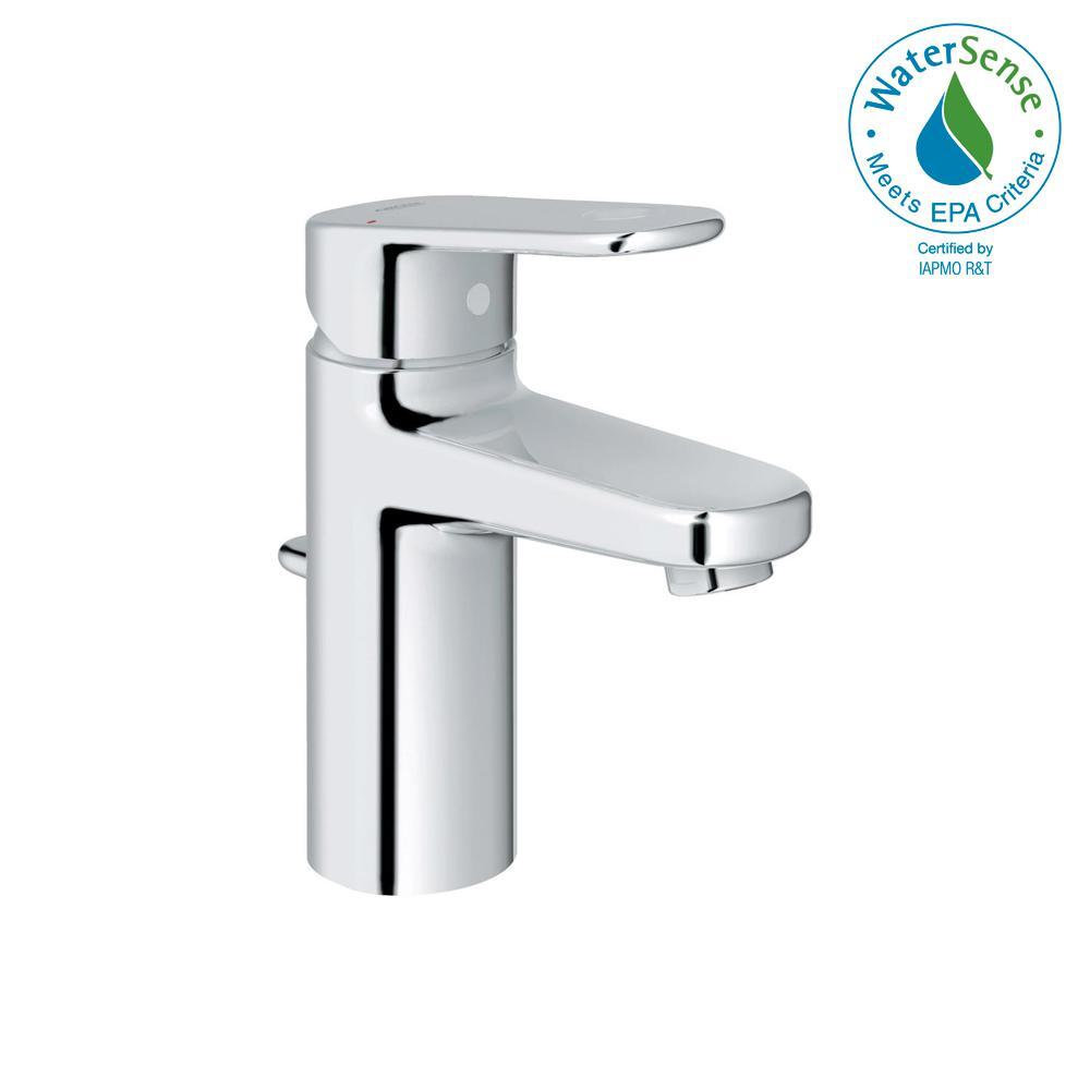 GROHE Europlus Single Hole Single-Handle 1.2 GPM Bathroom Faucet in  StarLight Chrome