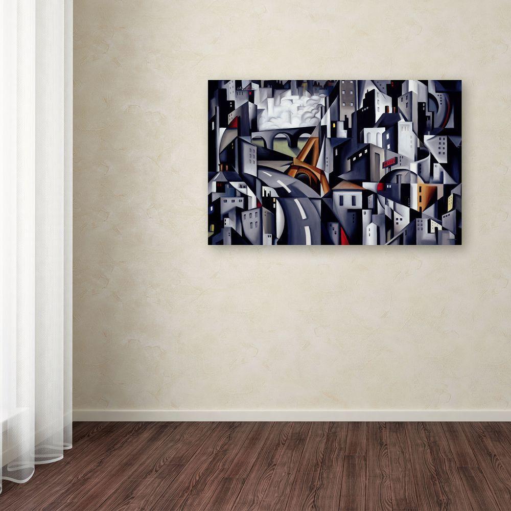 14 in. x 19 in. La Rive Gauche Canvas Art