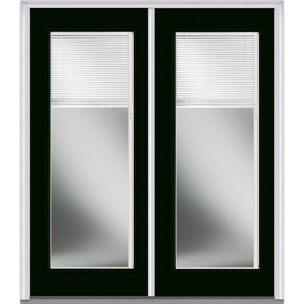72 in x 80 in internal blinds clear left hand full lite - Exterior Double Doors