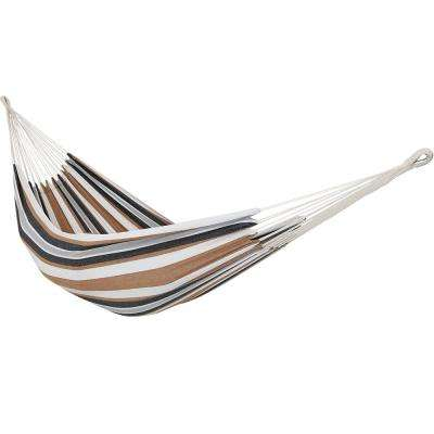 10.5 ft. Fabric Cotton Double Brazilian Hammock in Calming Desert