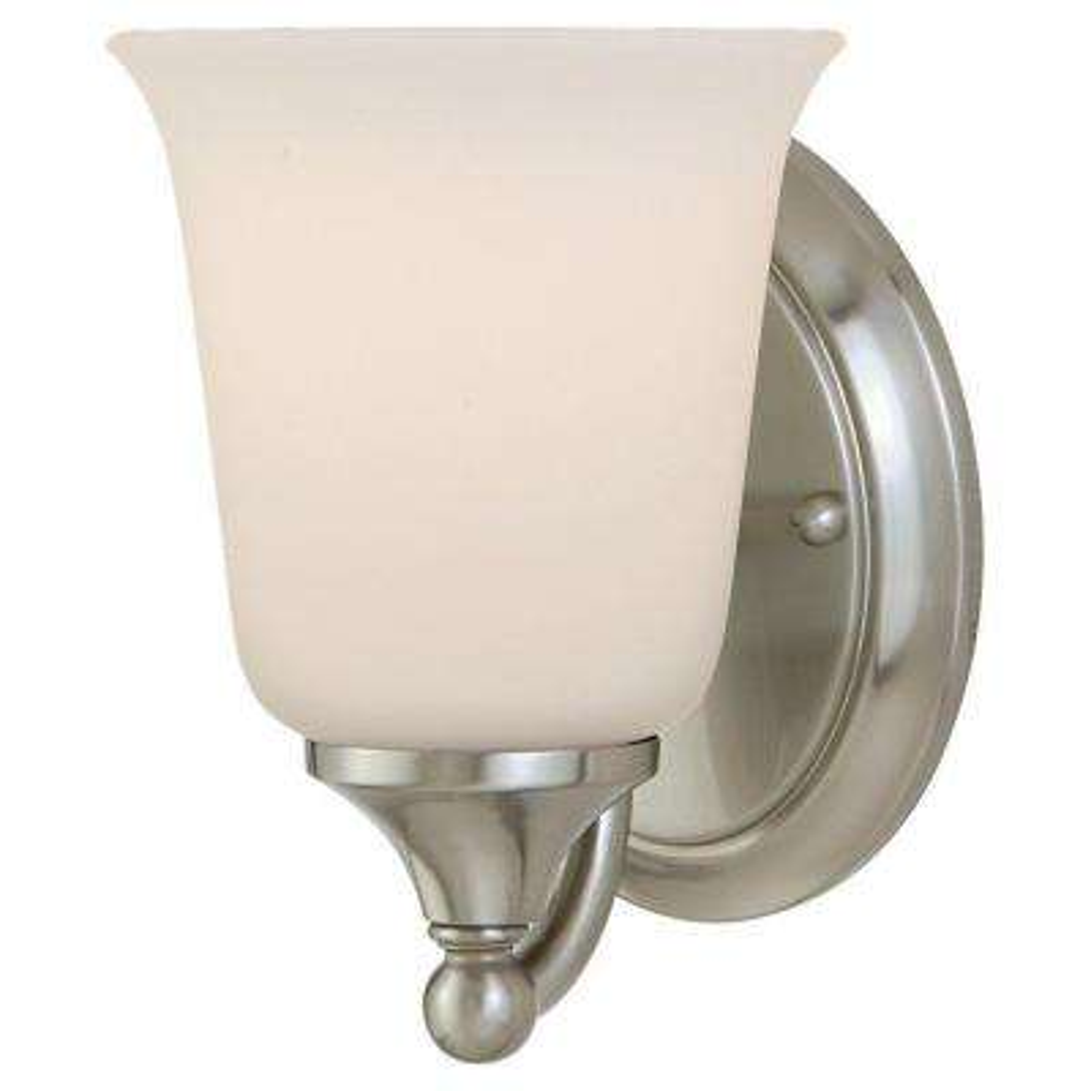 Claridge Brushed Steel Vanity Light