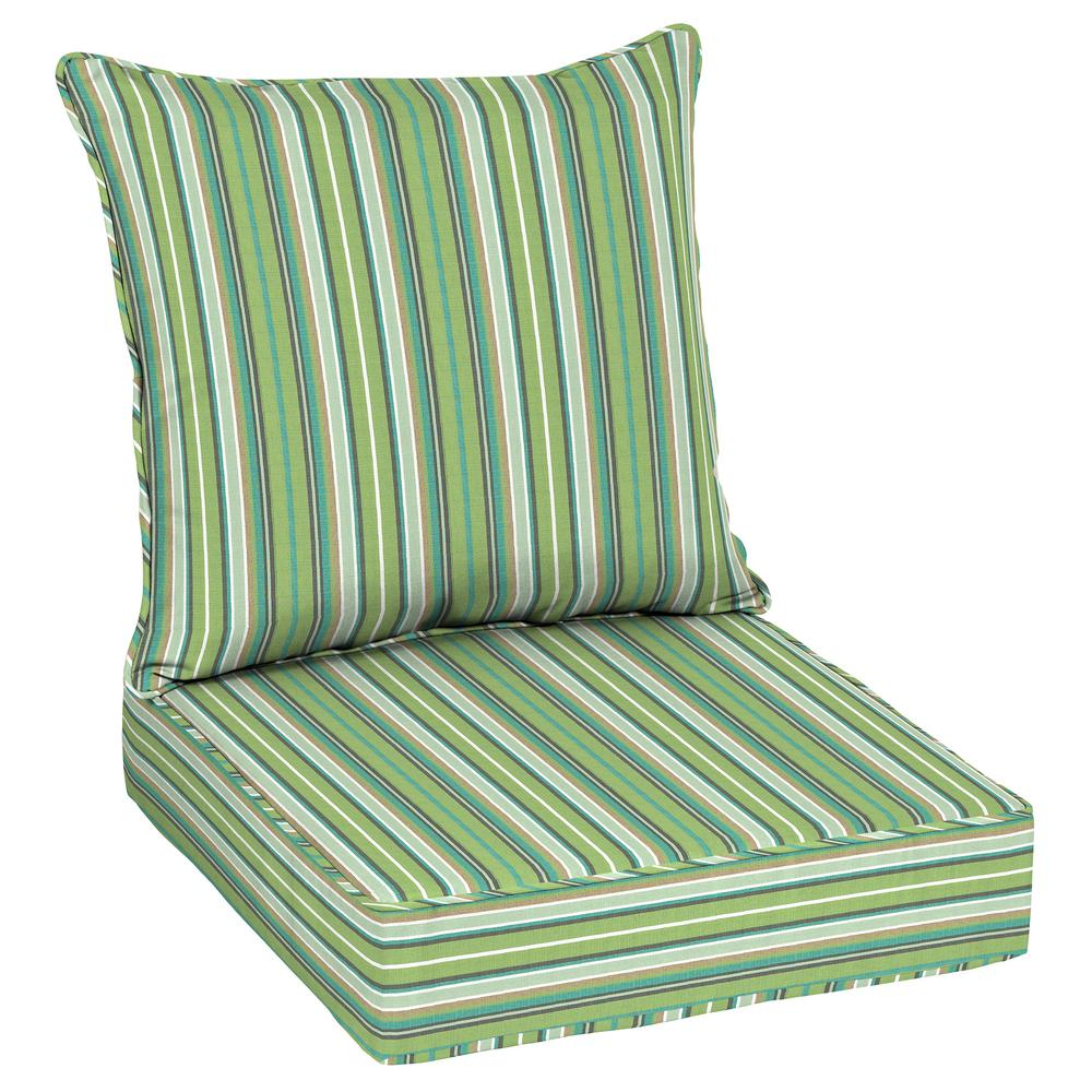 Home Decorators Collection Sunbrella Foster Surfside Outdoor Lounge Chair  Cushion