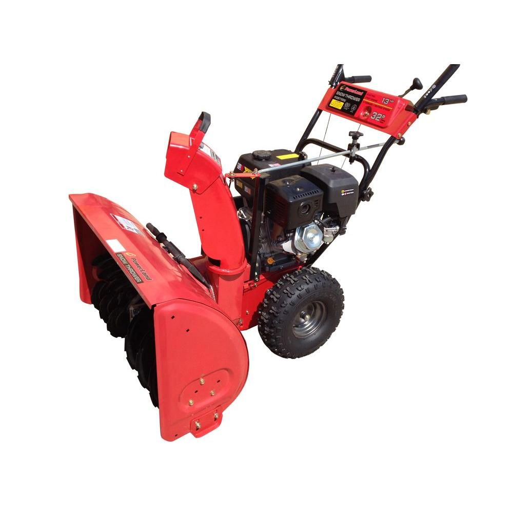 Powerland 32 in. Two-Stage Electric Start Gas Snow Blower