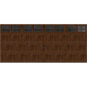 Clopay gallery collection 16 ft x 7 ft 18 4 r value for Best value windows