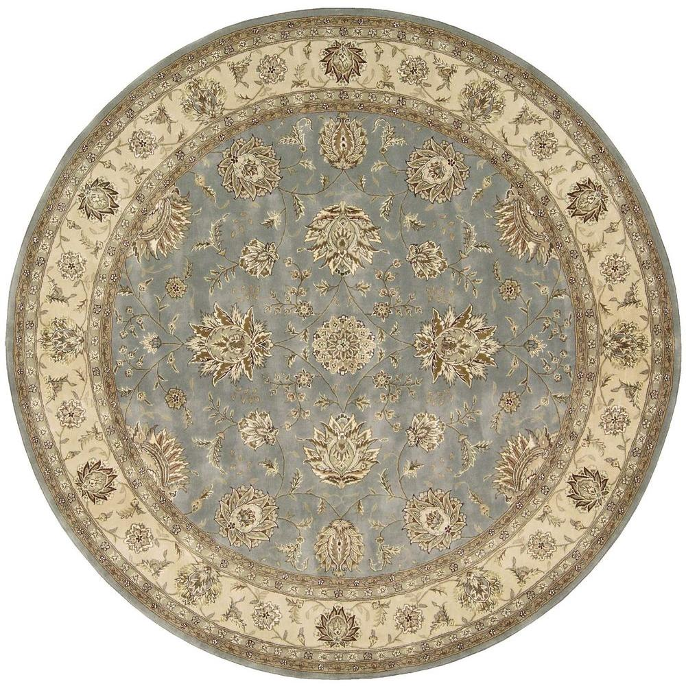 Nourison 2000 Blue 6 Ft X 6 Ft Round Area Rug 593337