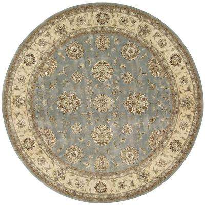2000 Blue 8 ft. x 8 ft. Round Area Rug