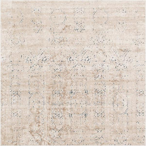 Chateau Quincy Beige 7' 0 x 7' 0 Square Rug