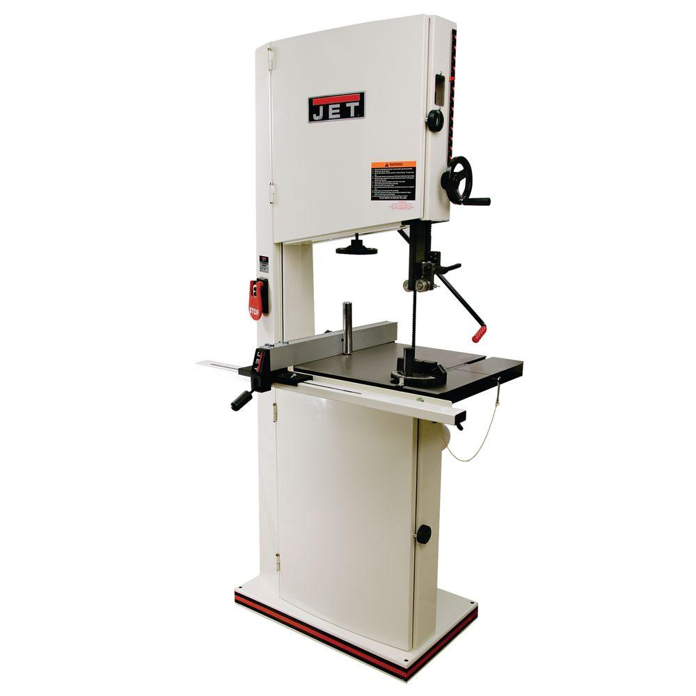 JET 115/230-Volt 1 HP 18 in. Band Saw with Quick Tension