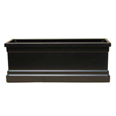Bloomz Box 8.5 in. x 96 in. Fiberglass Black Planter Box