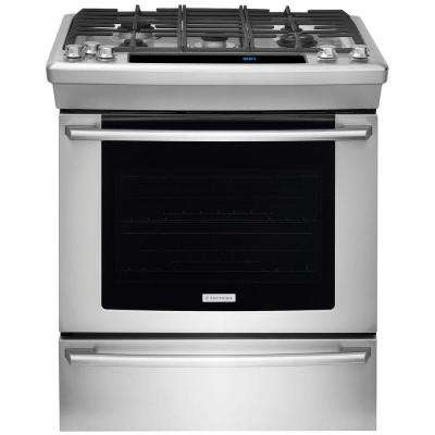 Wave-Touch 30 in. 4.5 cu. ft. Gas Slide-In Range with Self-Cleaning Convection Oven in Stainless Steel