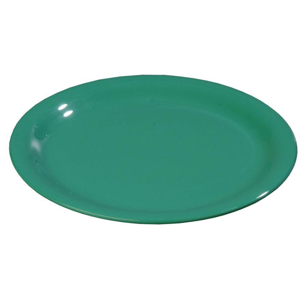 Carlisle 5.65 in. Diameter Melamine Wide Rim Bread and Butter Plate in Meadow Green (Case of 48)