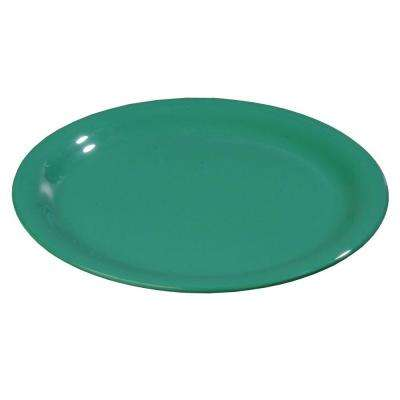 5.65 in. Diameter Melamine Wide Rim Bread and Butter Plate in Meadow Green (Case of 48)