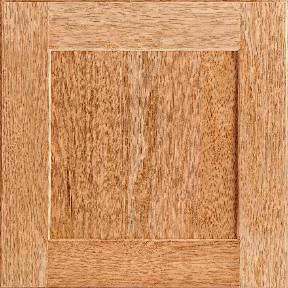 American Woodmark 14-9/16x14-1/2 in. Cabinet Door Sample in Reading Oak Natural-DISCONTINUED