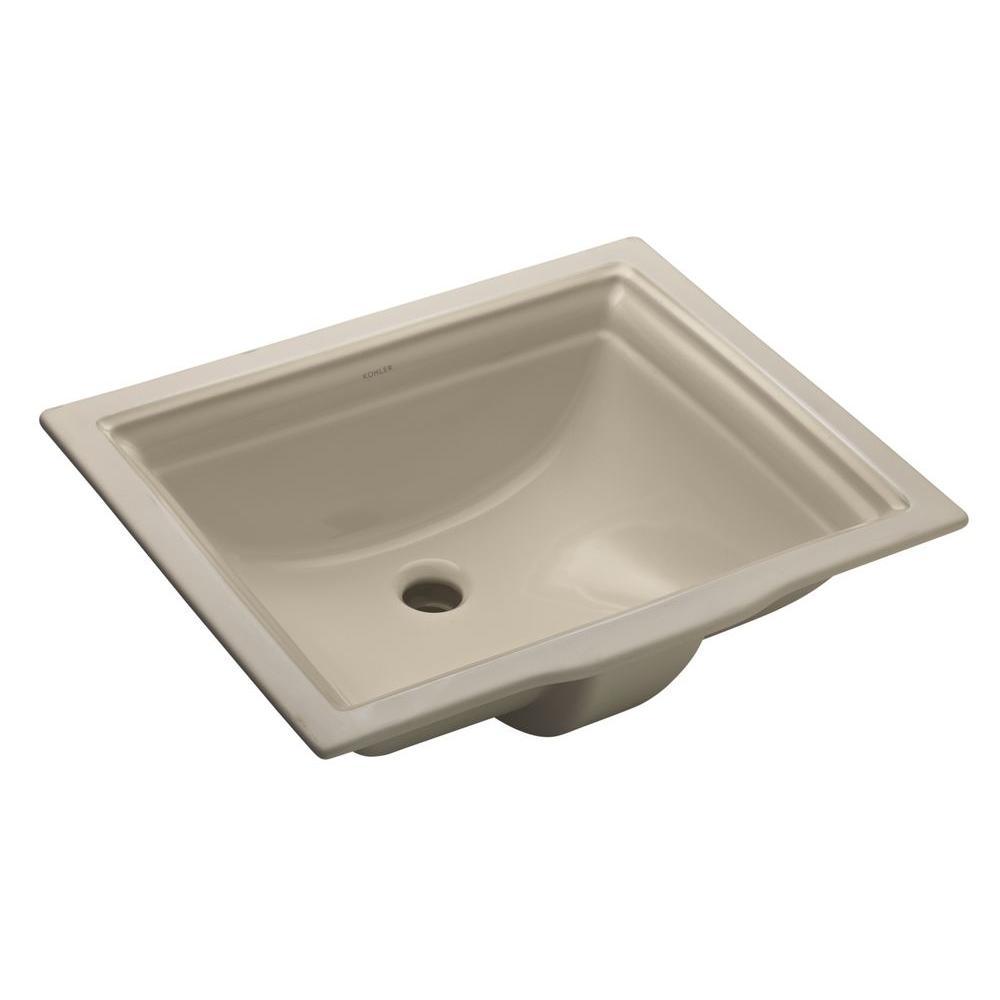 Memoirs Vitreous China Undermount Bathroom Sink in Sandbar with Overflow Drain