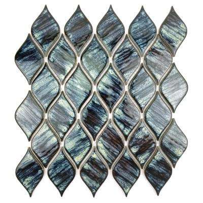 Monet Blue 12 in. x 12 in. x 4.76 mm Porcelain Mosaic Tile
