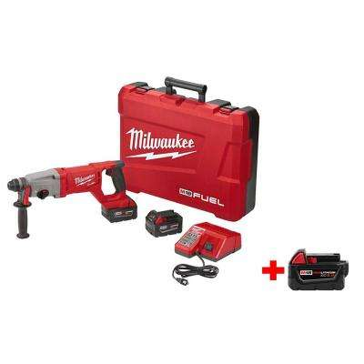 M18 FUEL 18-Volt Cordless Lithium-Ion Brushless 1 in. SDS-Plus D-Handle Rotary Hammer Kit with Free M18 5.0Ah XC Battery