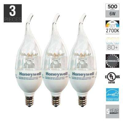 60W Equivalent Soft White B11 Dimmable LED Light Bulb (3-Pack)