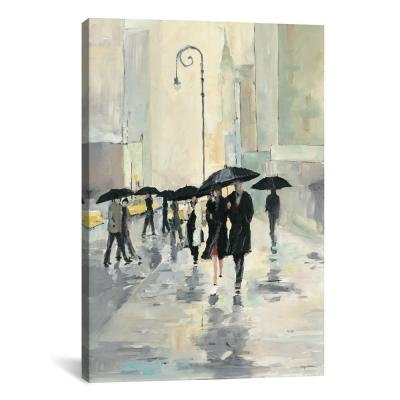 """City in the Rain"" by Avery Tillmon Canvas Wall Art"