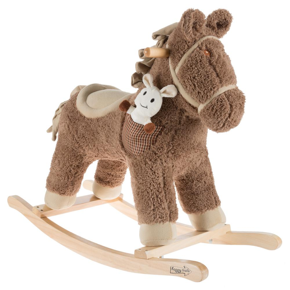 happy trails rocking horse ride on horse with friend hw4000033 the