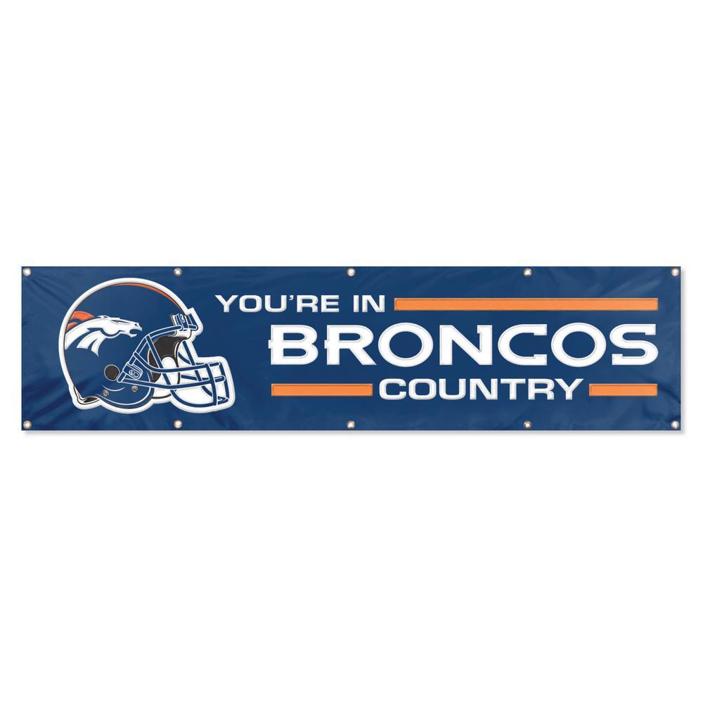 8 ft. x 2 ft. NFL License Broncos Team Banner