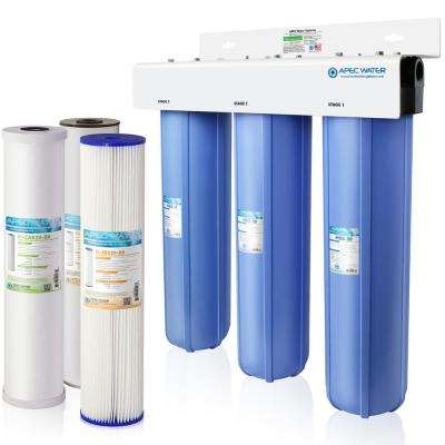 Whole House 3-Stage Water Filtration System Iron, Sediment and Chlorine For Multi-Purpose