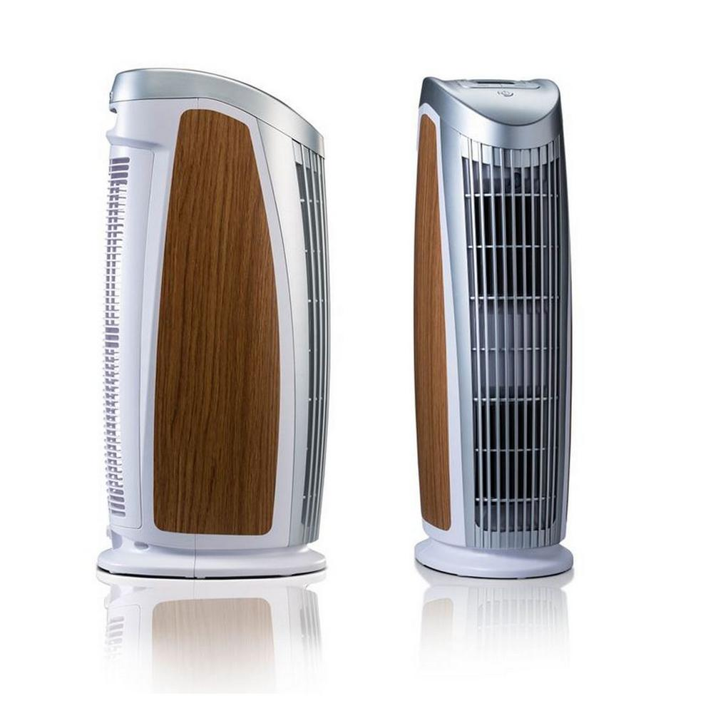 T500 Designer Tower Air Purifier with HEPA-Silver to Remove Allergies Mold