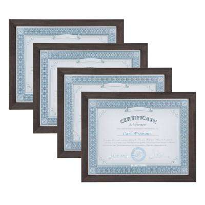 Gallery 8.5 in. x 11 Gray Picture Frame (Set of 4)