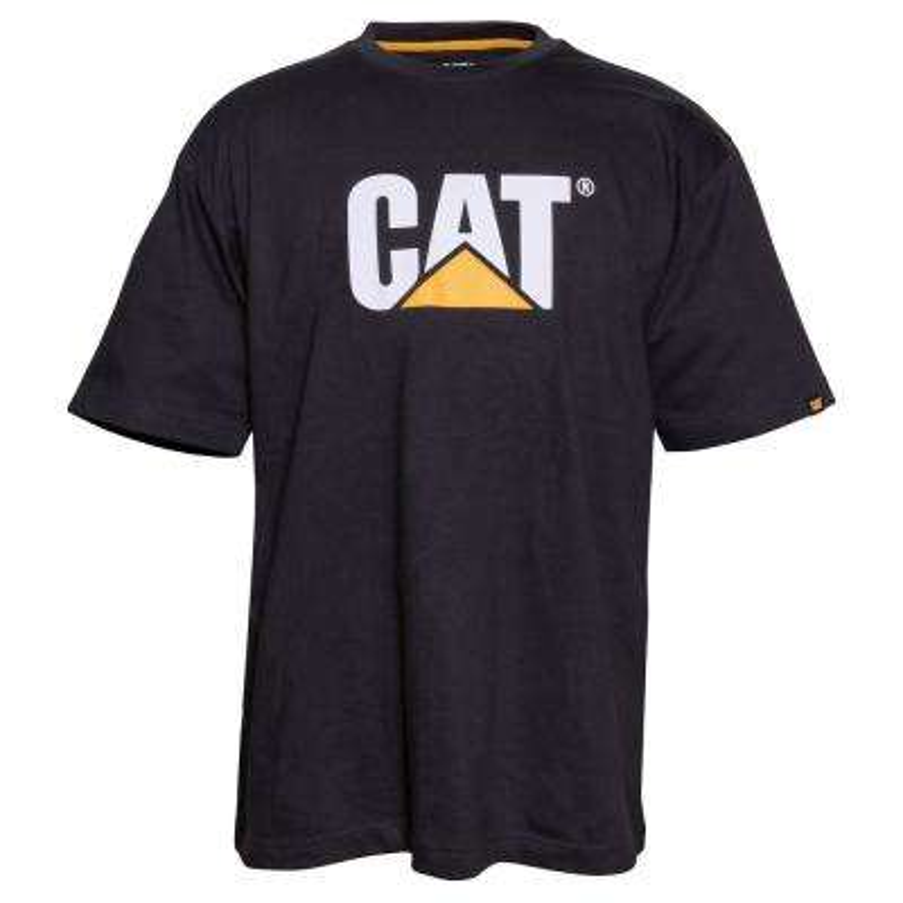 TM Logo Men's Large Black Cotton Short Sleeved T-Shirt