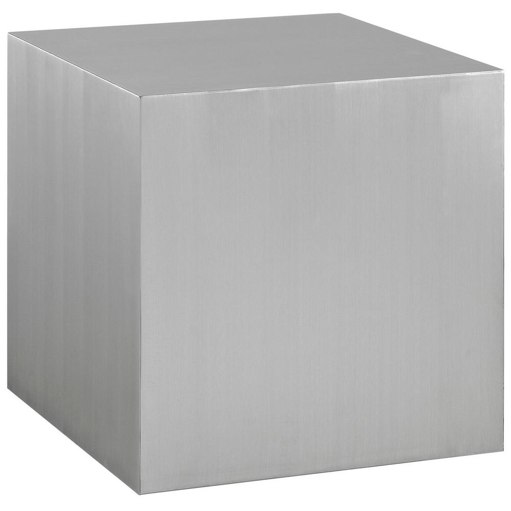 Cast Silver Stainless Steel Side Table