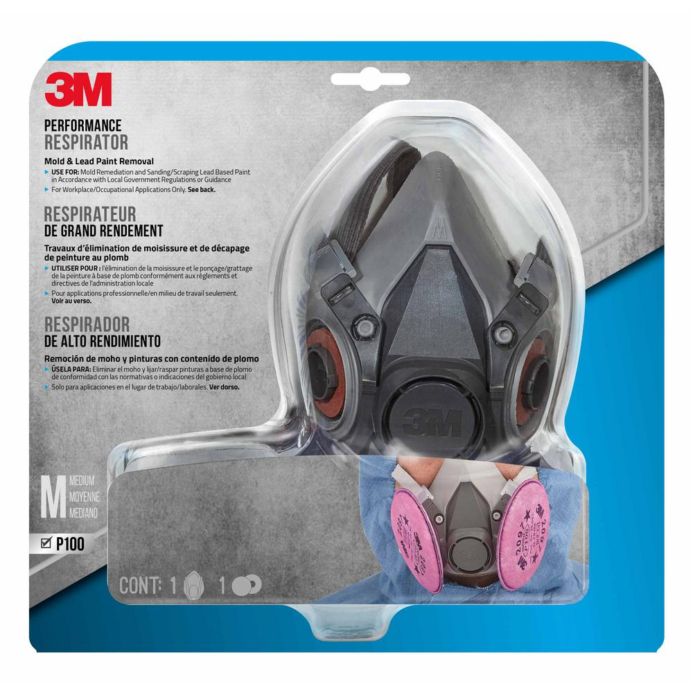 3M Medium Mold and Lead Paint Removal Respirator Mask