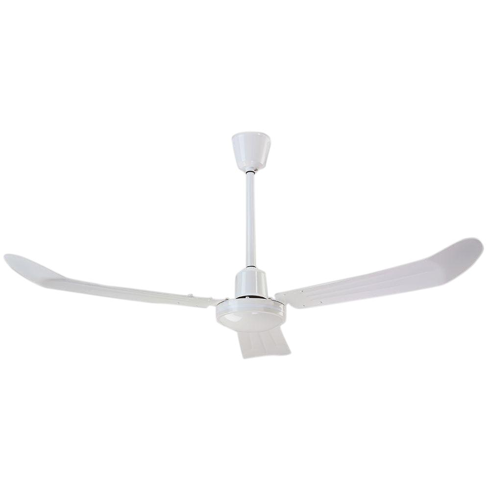Industrial 56 in. Cord and Plug Non-Reversible White CP Ceiling Fan
