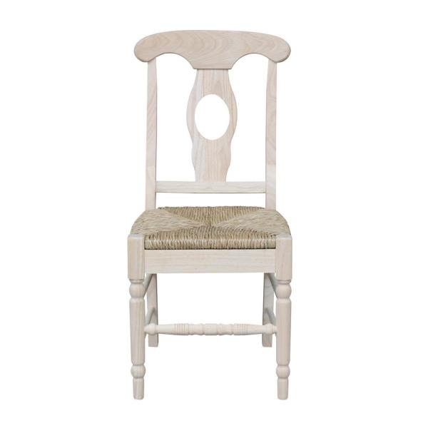International Concepts Unfinished Wood Dining Chair (Set of 2) C-1200P