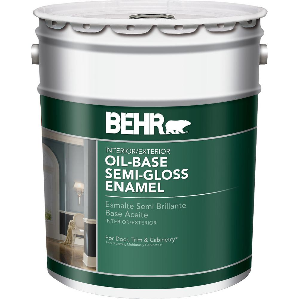 Behr marquee 5 gal deep base semi gloss enamel exterior - Exterior paint oil or water based ...