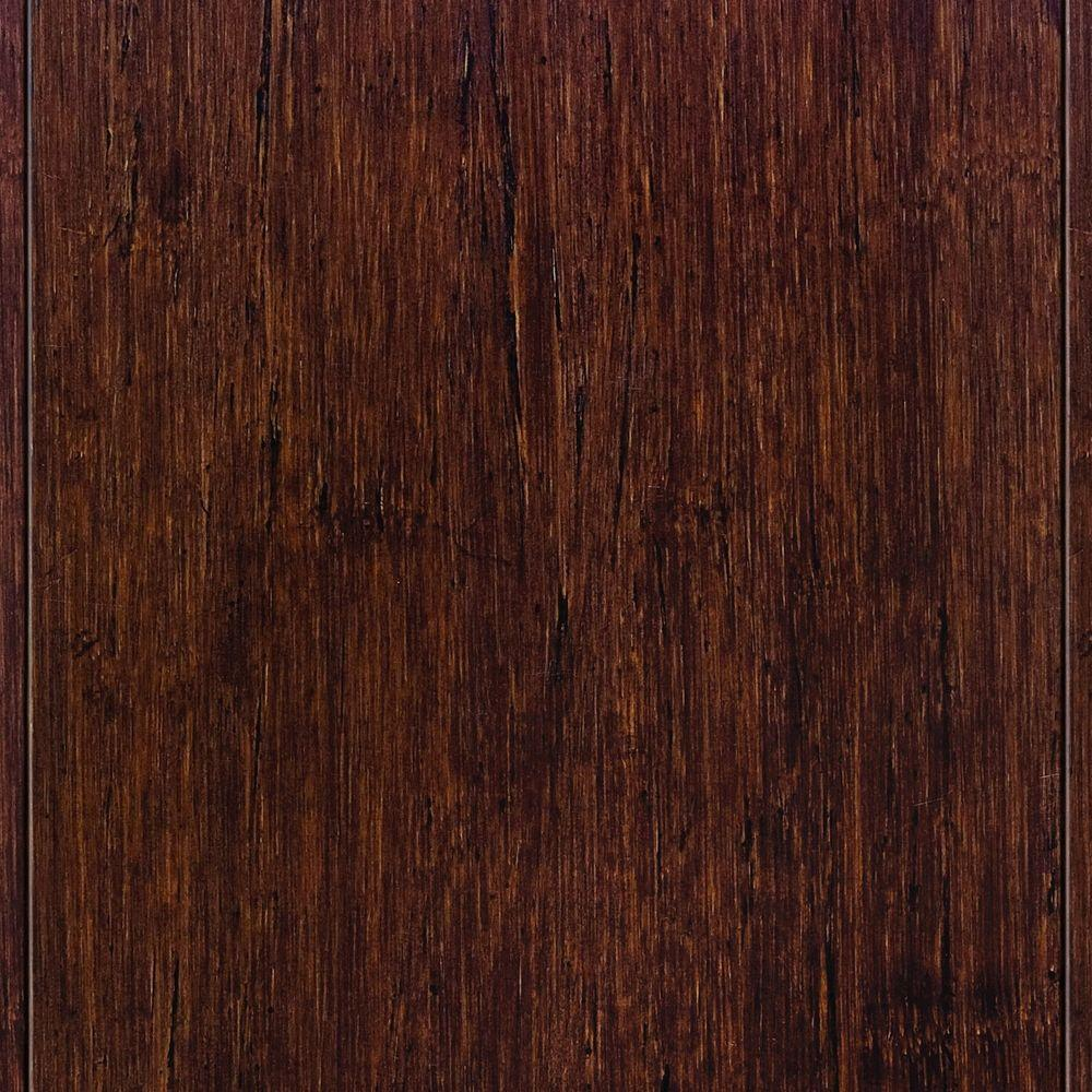 Home Legend Strand Woven Sapelli Solid Bamboo Flooring - 5 in. x 7 in. Take Home Sample