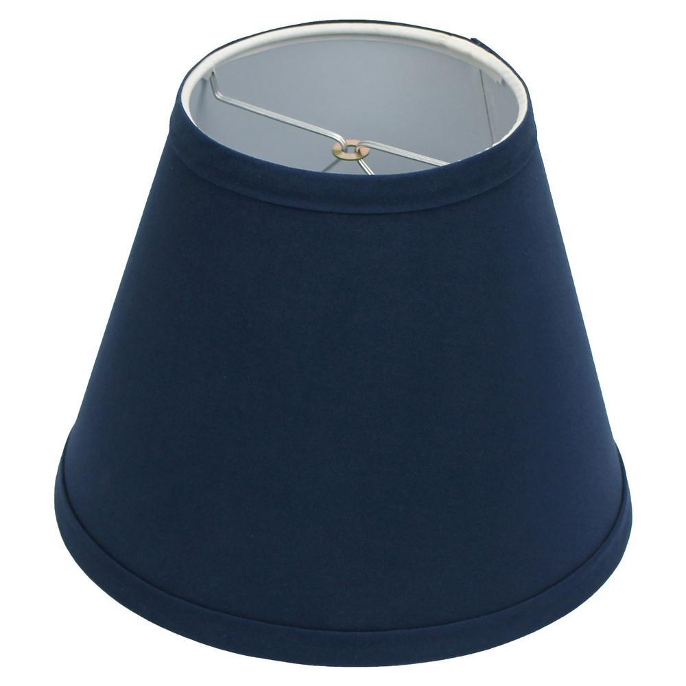 5 in. Top Diameter x 9 in. Bottom Diameter x 7 in. Slant Linen Navy Blue Empire Lamp Shade