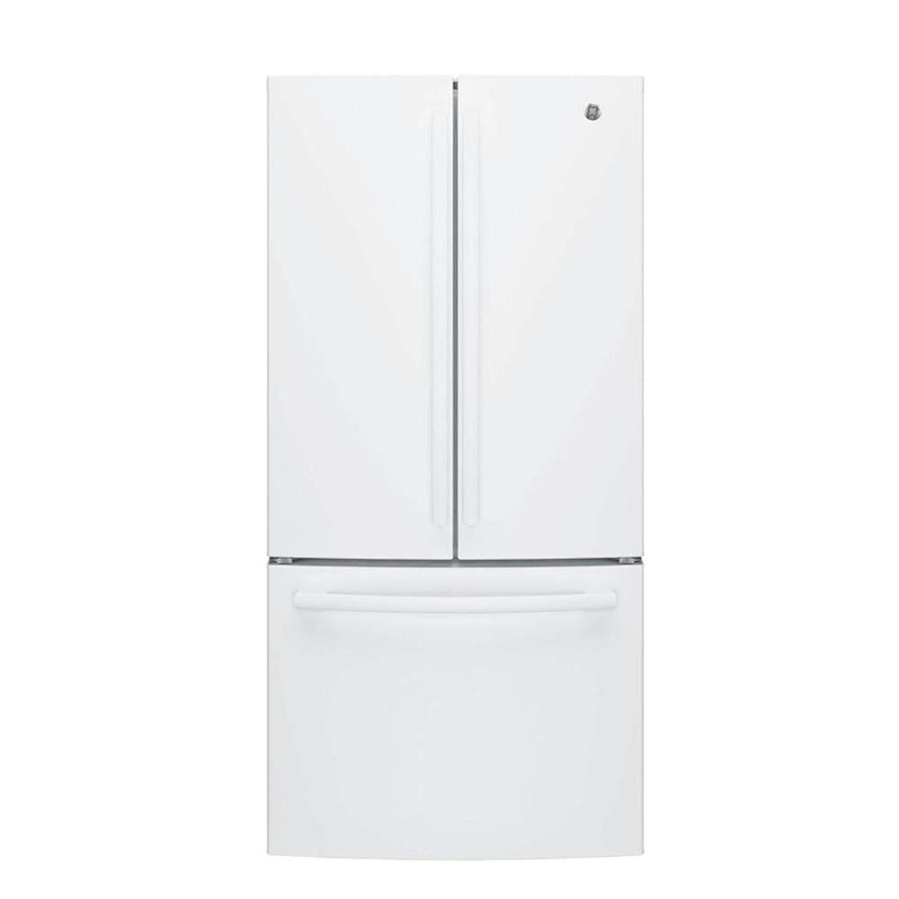 Ge 33 In W 24 8 Cu Ft French Door Refrigerator In White
