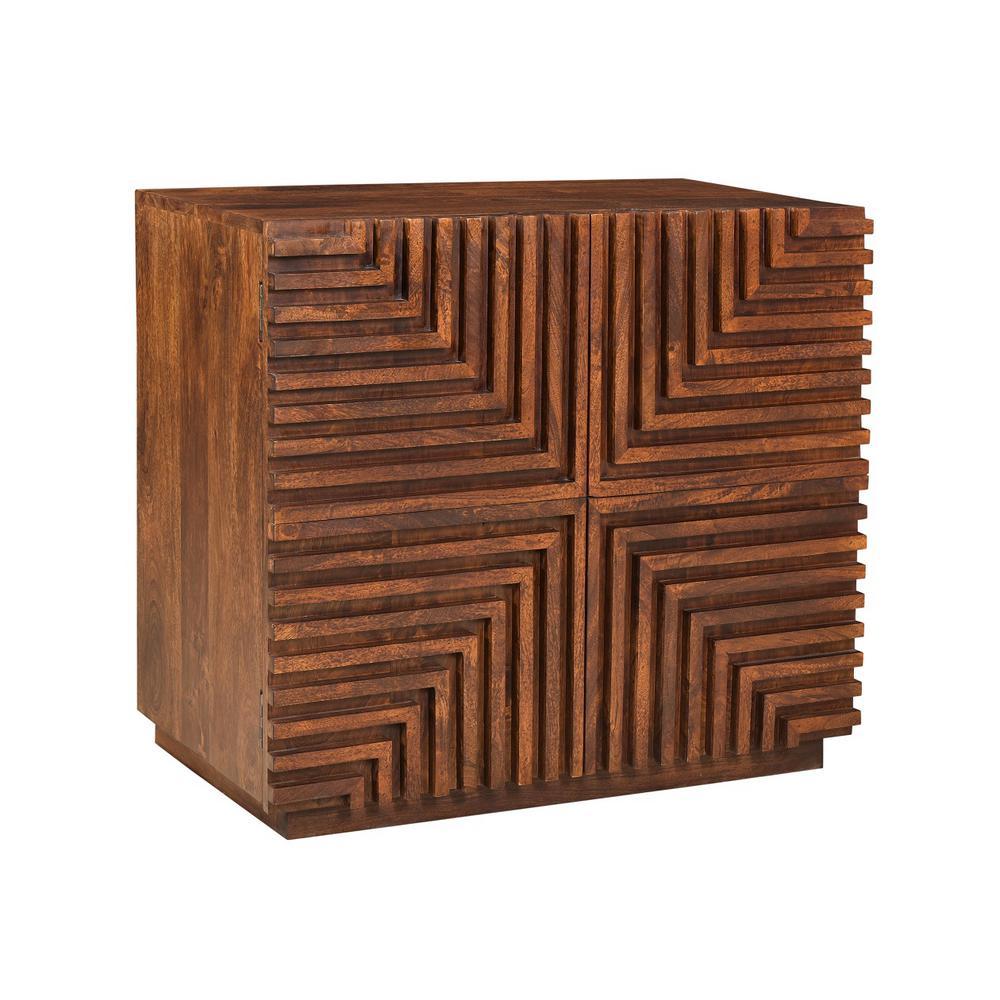 Lincoln Brown 2-Door Cabinet