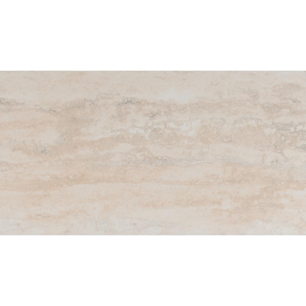 Astrata Beige 12 in. x 24 in. Glazed Ceramic Floor and