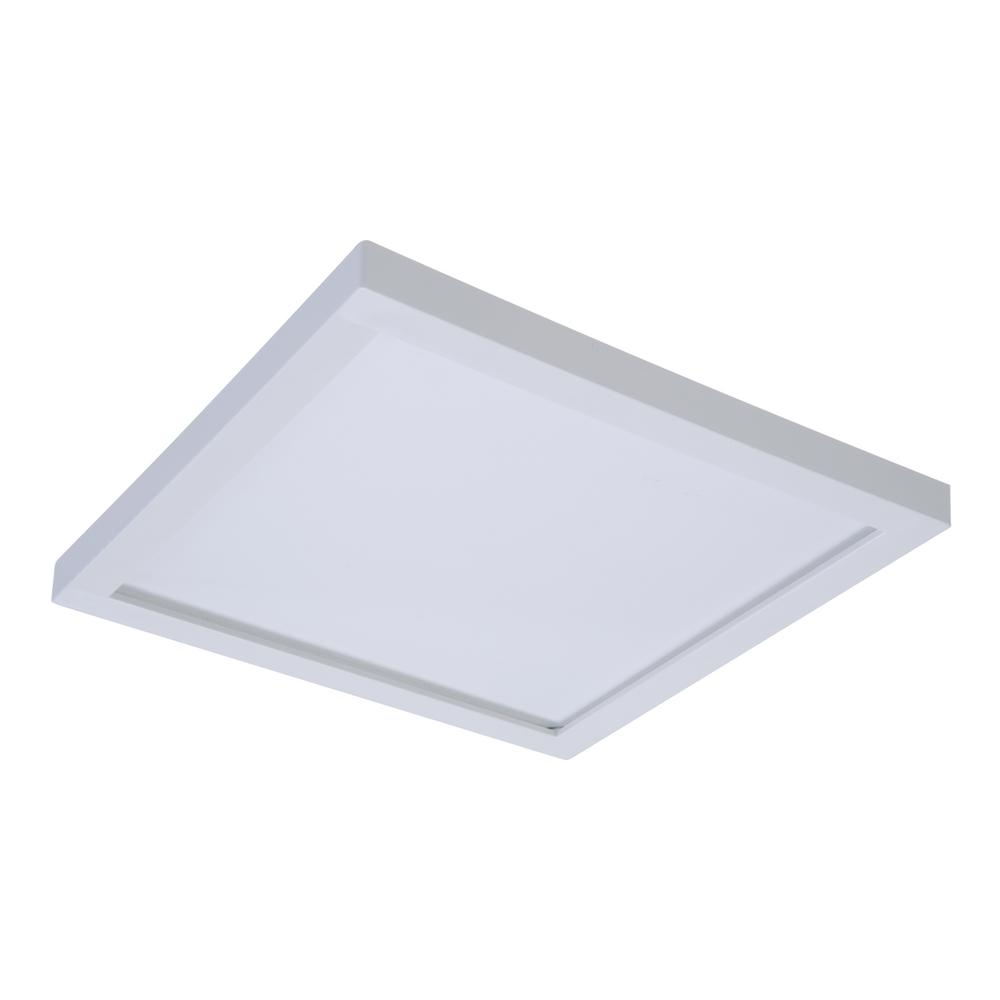 White Integrated LED Recessed Square Surface Mount Ceiling Light Fixture At  90 CRI, 5000K Daylight SMD6S6950WH   The Home Depot